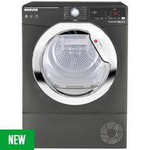 Hoover DX C8TCER 8KG Condenser Tumble Dryer - Graphite Best Price, Cheapest Prices