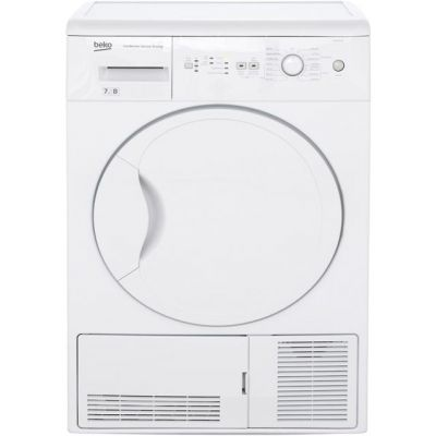 Beko DCUR701W 7Kg Condenser Tumble Dryer - White - B Rated Best Price, Cheapest Prices