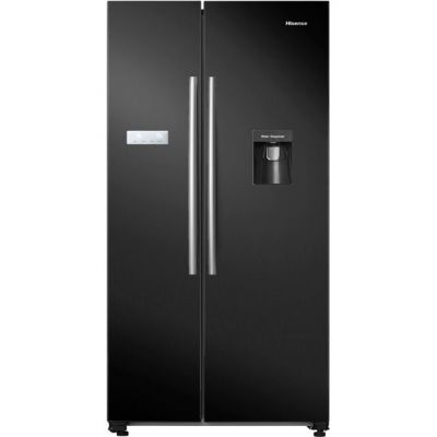 Hisense RS741N4WB11 American Fridge Freezer - Black - A+ Rated Best Price, Cheapest Prices