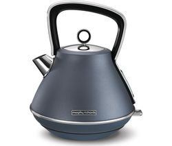 MORPHY RICHARDS Evoke Premium Traditional Kettle - Steel Blue Best Price, Cheapest Prices