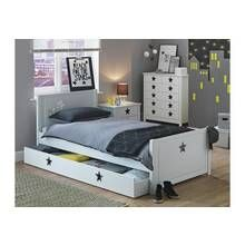Argos Home Stars White Single Bed with Drawer Best Price, Cheapest Prices