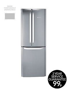 Hotpoint Day 1 FFU3DX American Style 70cm Frost Free Fridge Freezer, A+ Energy Rating - Stainless Steel Best Price, Cheapest Prices