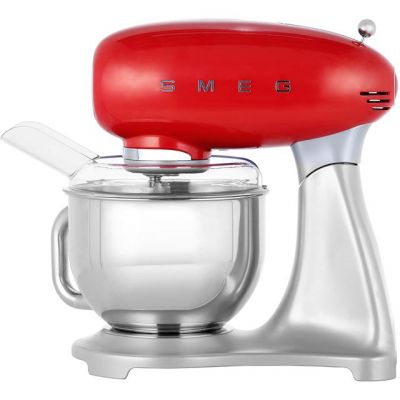 Smeg 50's Retro SMF01RDUK Stand Mixer with 4.8 Litre Bowl - Red Best Price, Cheapest Prices