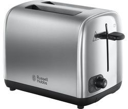 RUSSELL HOBBS 24081 2-Slice Toaster - Brushed Stainless Steel Best Price, Cheapest Prices