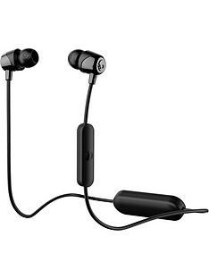 Skullcandy JIB Wireless Bluetooth In Ear Headphones with built-in Microphone - Black/Black Best Price, Cheapest Prices