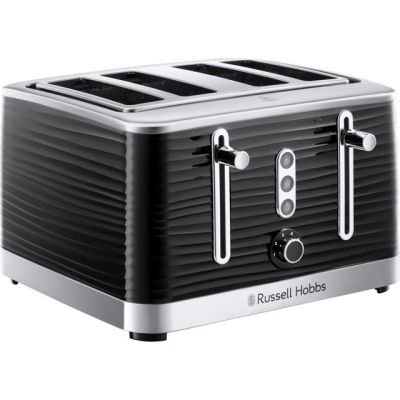 Russell Hobbs Inspire 24381 4 Slice Toaster - Black Best Price, Cheapest Prices