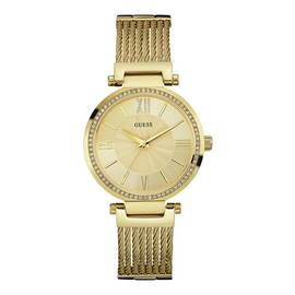 Guess Ladies Soho Rose Gold Plated Mesh Strap Watch Best Price, Cheapest Prices
