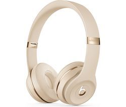 BEATS Solo 3 Wireless Bluetooth Headphones - Satin Gold Best Price, Cheapest Prices