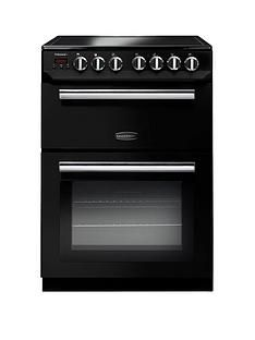 Rangemaster  PROP60ECBL Professional 60cm Wide Electric Cooker with Ceramic Hob - Black Best Price, Cheapest Prices