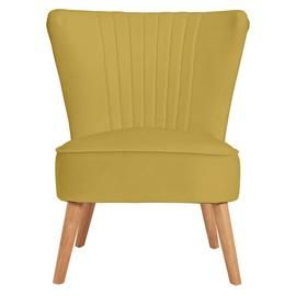 Argos Home Alana Velvet Shell Back Accent Chair - Yellow Best Price, Cheapest Prices