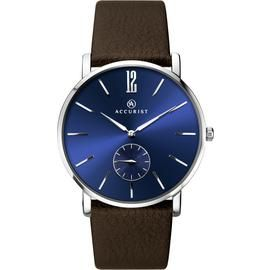 Accurist Men's Brown Leather Strap Watch Best Price, Cheapest Prices