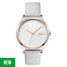 Lacoste Ladies' Nikita Rose Colour Grey Leather Strap Watch Best Price, Cheapest Prices