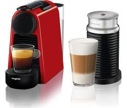 NESPRESSO by Magimix Essenza Mini Coffee Machine with Aeroccino - Ruby Red Best Price, Cheapest Prices