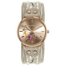 Kahuna Ladies' Rose Gold Coloured Grey Beaded Strap Watch Best Price, Cheapest Prices
