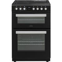 Belling FSE608MFc 60cm Double Oven Multifunction Electric Cooker - Black Best Price, Cheapest Prices