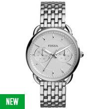 Fossil Ladies' Tailor ES3712 Silver Tone Chronograph Watch Best Price, Cheapest Prices