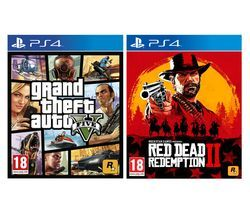 PS4 Red Dead Redemption 2 & Grand Theft Auto V Bundle Best Price, Cheapest Prices