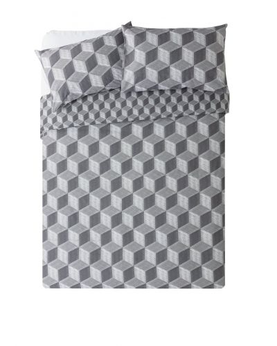 Argos Home Big Blocks Bedding Set - Double Best Price, Cheapest Prices