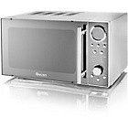 Swan SM3080N Standard Microwave - Chrome Best Price and Cheapest