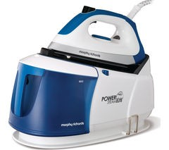 MORPHY RICHARDS Power Steam Elite 332010 Steam Generator Iron - White & Blue Best Price and Cheapest
