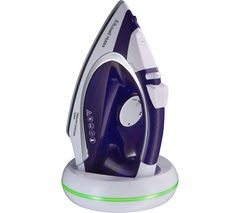RUSSELL HOBBS Freedom 23300 Cordless Steam Iron - Purple & White Best Price and Cheapest
