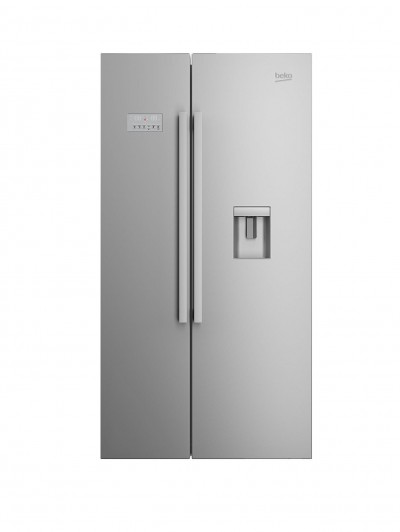 Beko ASD241X USA-Style Fridge Freezer with Stored Water - Stainless Steel Best Price and Cheapest