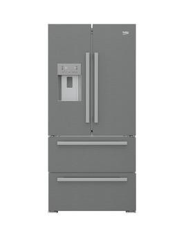 Beko GNE60520DX Frost Free USA Style Fridge Freezer Best Price and Cheapest