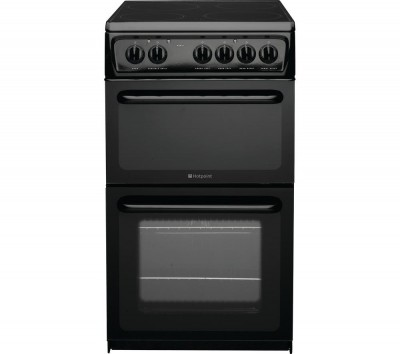 HOTPOINT Concept HAE51KS Electric Ceramic Cooker - Black Best Price and Cheapest