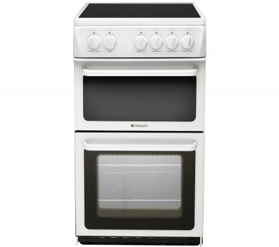 HOTPOINT HAE51PS Electric Ceramic Cooker - White Best Price and Cheapest