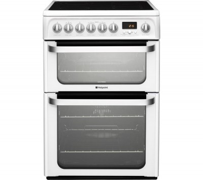 HOTPOINT Ultima HUE61PS Electric Ceramic Cooker - White Best Price and Cheapest