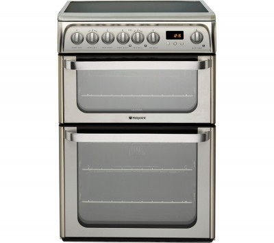 HOTPOINT HUE61XS Electric Ceramic Cooker - Stainless Steel Best Price and Cheapest