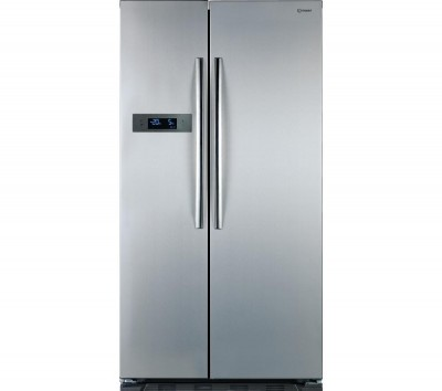 INDESIT SBSAA530SD American Style Fridge Freezer - Silver Best Price and Cheapest