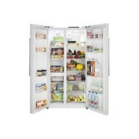 Lec AFF90185 Side-by-side American Fridge Freezer White Best Price and Cheapest