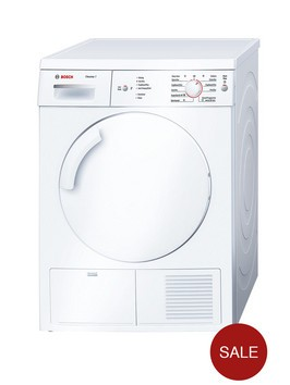 Bosch Classixx WTE84106Gb 7kg Load Condenser Tumble Dryer - White Best Price and Cheapest